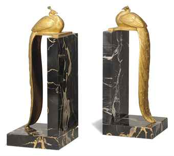 a_pair_of_charles_gilt-bronze_and_belgian_gold_marble_peacock_bookends_d5407489h